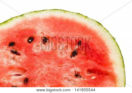 Ripe sliced watermelon isolated on white background