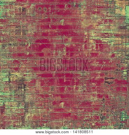 Antique texture, weathered background with vintage look and different color patterns: yellow (beige); brown; gray; green; purple (violet); pink