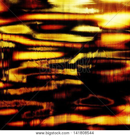 Retro style background with grungy vintage texture and different color patterns: yellow (beige); brown; red (orange); black