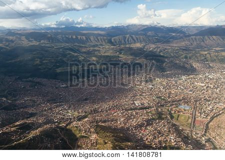 Aerial View Of Cuzco Peru