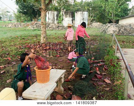 Thai student scout camp / PHITSANULOK THAILAND - FEBRUARY 4: Thai student scout camp outdoorPhitsanulokThailand on Februaryl 42016
