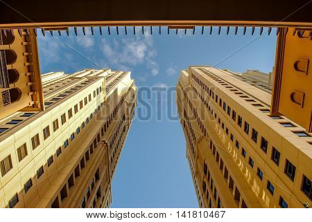 Skyscraper Offices - office architecture low angle view - horizontal image