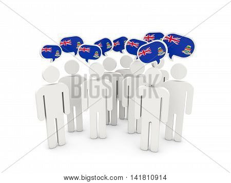 People With Flag Of Cayman Islands
