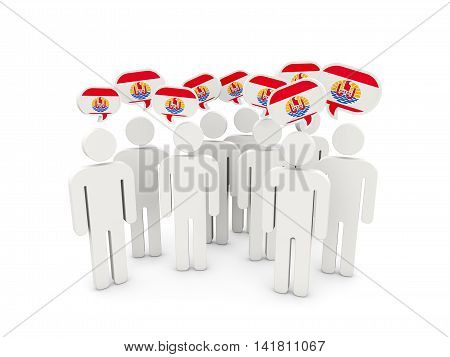 People With Flag Of French Polynesia