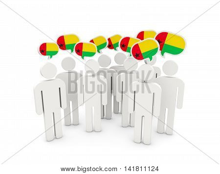 People With Flag Of Guinea Bissau