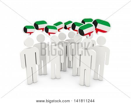 People With Flag Of Kuwait