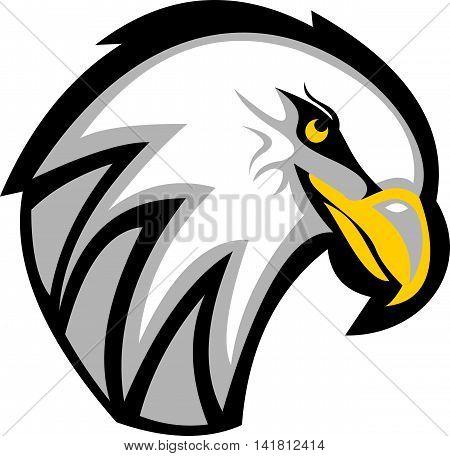 stock logo illustration eagle head cartoon icon