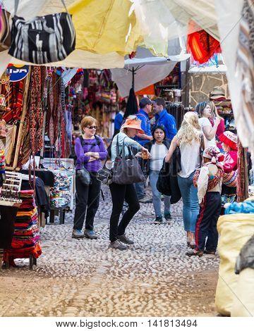 The Pisac Market In Peru