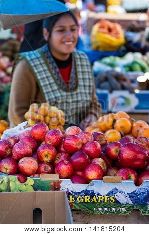 Fruits And Vegetables At The Market, Peru
