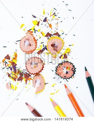 School Accessories On White Background, Back To School Concept