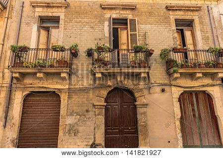 View Of Historical Buildings In Syracuse, Sicily, Italy