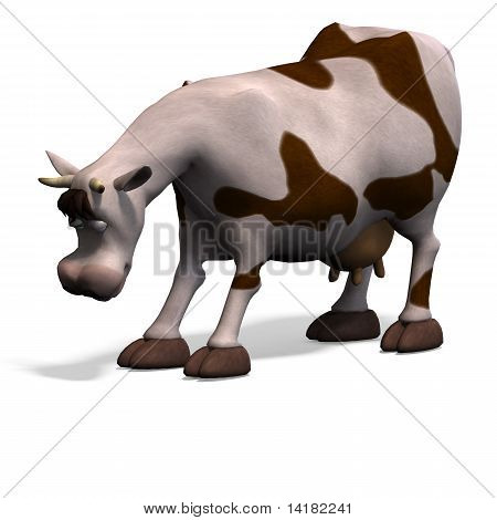 cute and funny cartoon cow