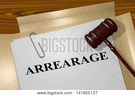 Arrearage - Legal Concept