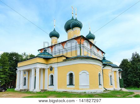 Saviour Transfiguration Cathedral of Uglich Kremlin of old Russian town of Uglich Russia
