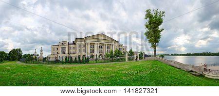 Panoramic view of luxury comfortable hotel