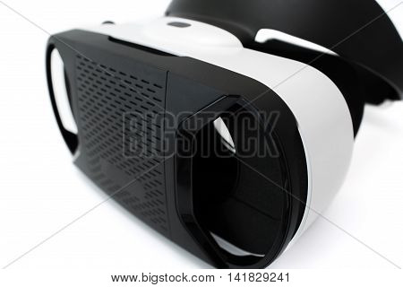 Virtual reality goggles, isolated on white. VR glasses for immersive multimedia or computer-simulated reality.