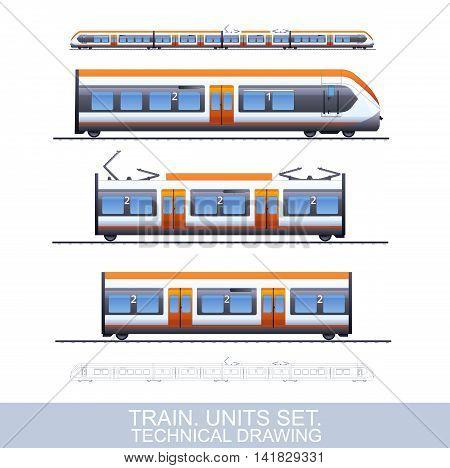 Speed Train Illustration