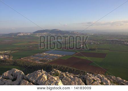 Jezreel Valley in Lower Galilee, Israel