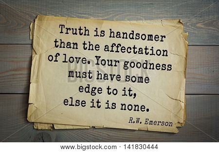 Aphorism by Ralph Waldo Emerson (1803-1882) - American essayist, poet, philosopher, social activist quote. Fate is nothing but the deeds committed in a prior state of existence.