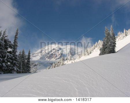 Mount Rainier In Winter
