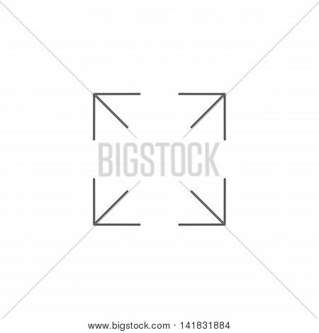 Vector illustration of maximize icon on white background. Simple black symbol. Eps10 format vector.