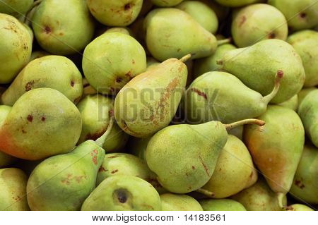 Close Up Of Pears