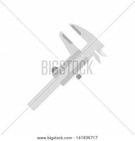Caliper icon in flat style isolated on white background. Tool symbol