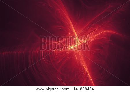 purple red glow energy wave. lighting effect abstract background.