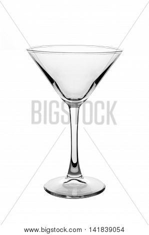 Empty Martini Glass isolated on a white background