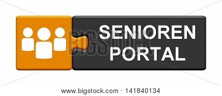 Isolated Puzzle Button with symbol is showing Seniors Portal in german language
