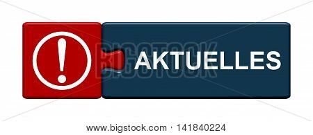 Isolated Puzzle Button with symbol is showing current news in german language
