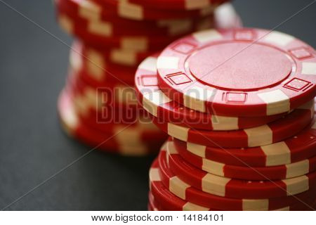 Red casino chips