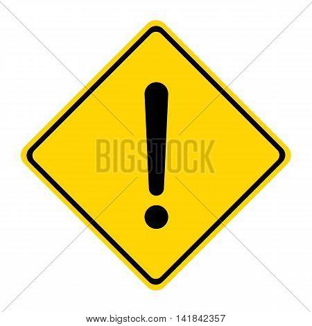 Hazard warning sign. Square symbol isolated on white background.