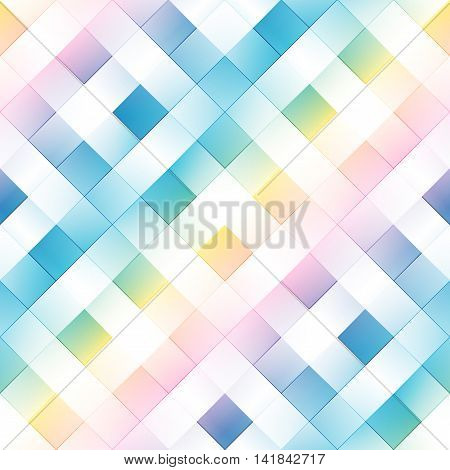 Seamless background pattern. Diagonal white plaid on a gradient background