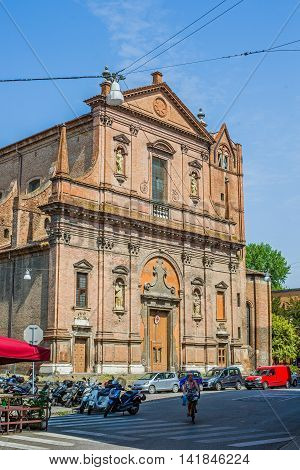 San Domenico Church Of Ferrara. Emilia-romagna. Italy.