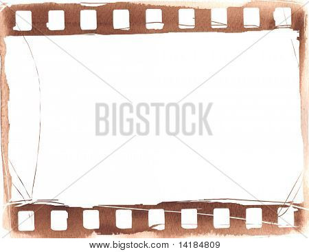 Great film strip for textures and backgrounds frame isolated on white