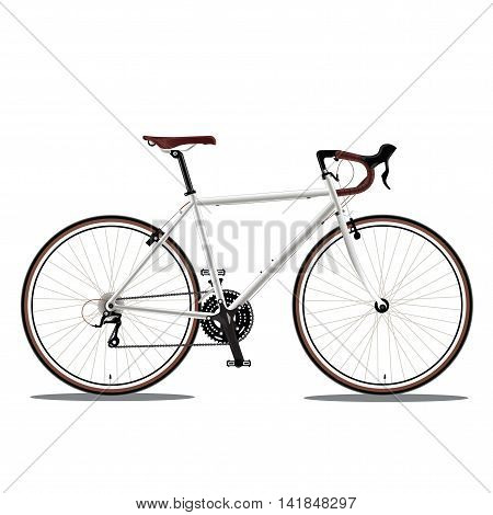 race road bike isolated bicycle on white fixed gear