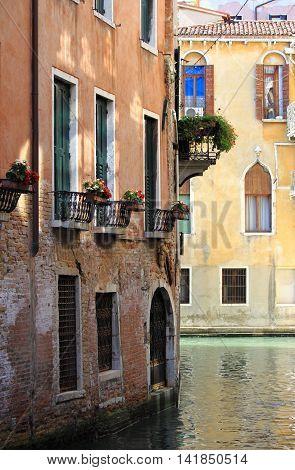 A romantic urban scenic of Venice, Italy