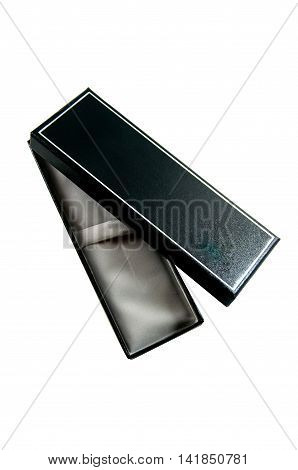 Open of pen boxes on white background