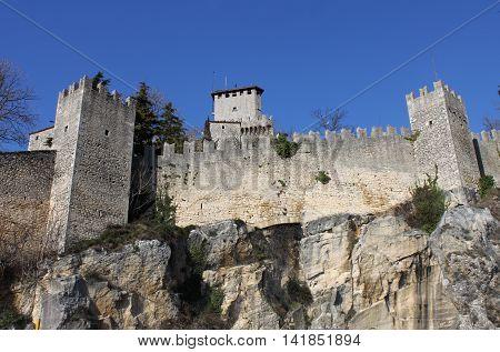 Rocca della Guaita the most ancient fortress of San Marino Republic