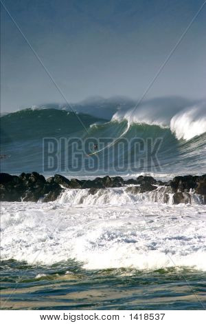 Big Wave Surfer