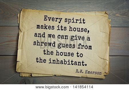Aphorism by Ralph Waldo Emerson (1803-1882) - American essayist, poet, philosopher, social activist quote. We have listened too long to the courtly Muses of Europe.