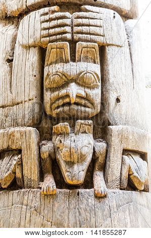 An Ancient Inuit Totem pole in Alaska