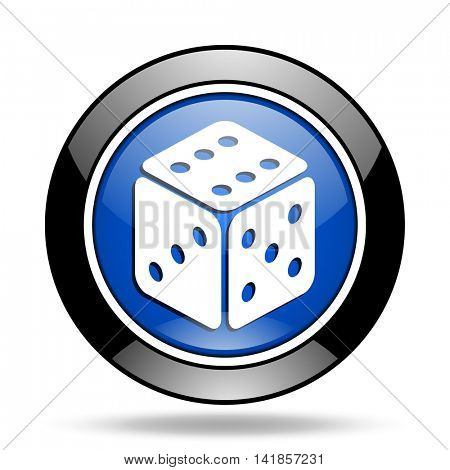 game blue glossy icon