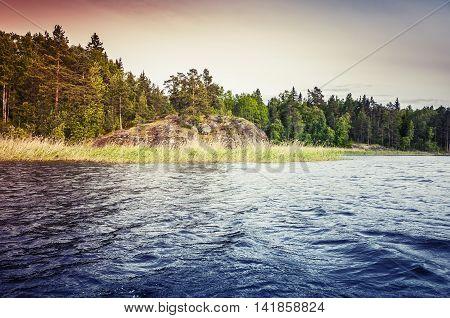 Ladoga Lake, Colorful Coastal Landscape