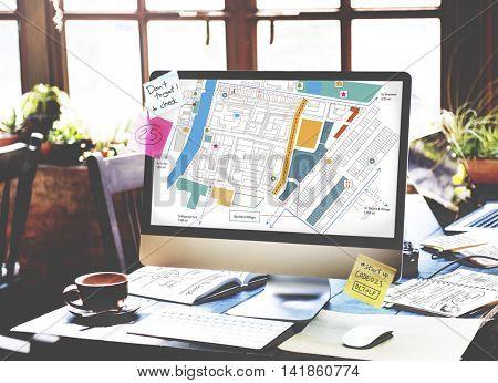 City Urban Blueprint Plan Infrastucture Concept