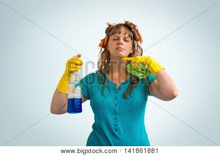 Housewife Is Tired Of Cleaning, She Is Fed Up Of Cleaning