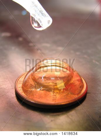 Waterdrops On A Penny