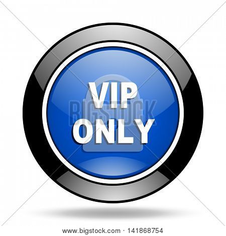 vip only blue glossy icon