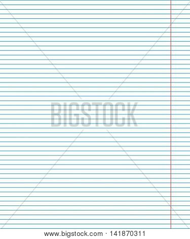 Vector paper sheet in line with the red